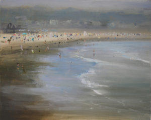 Crowded Beach Day Eastons Beach