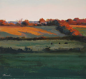 Farm in Autumn Light Study